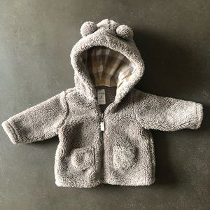Carter's Sherpa Hooded Baby Jacket - 3 months